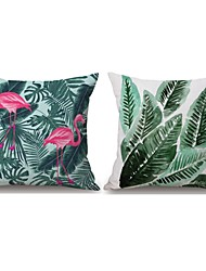 2PCS Green Plant Style Pillowcase Home Decor Pillow Cover