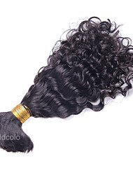 Mongolian Curly Human Braiding Bulk Curly Human Hair For Bulk Braiding  No Attachment 10inch-26inch