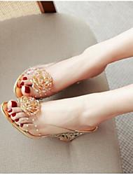 Women's Sandals Comfort PVC Summer Casual Comfort Silver Gold 2in-2 3/4in