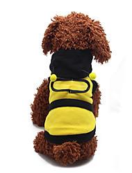 Cachorro Fantasias Roupas para Cães Dia Das Bruxas Blocos de cor Amarelo