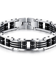 Men's Chain Bracelet AAA Cubic Zirconia Fashion Punk Hip-Hop Rock Gothic Cubic Zirconia Titanium Steel Gold Plated Circle Star Geometric