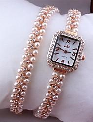 Mujer Reloj de Moda Reloj Pulsera Cuarzo Metal Banda Oro Rosa