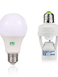 9W Lâmpada Redonda LED 18 SMD 2835 750-950 lm Branco Quente Branco Decorativa Sensor do corpo humano V 1Set E27