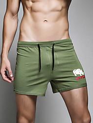 Pánské Kalhotky Barevné bloky Jednobarevné Sport Retro Šněrování Barevné bloky