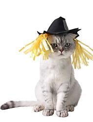 Gato Bandanas e Chapéus Roupas para Cães Dia Das Bruxas Sólido Preto