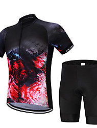 Maillot de Ciclismo con Shorts Bib Hombre Manga Corta Bicicleta Camiseta/Maillot Shorts/Malla corta Camisas Sudadera Tops Secado rápido
