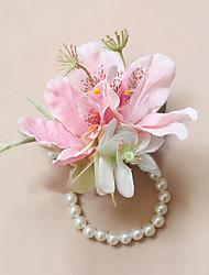 """Fleurs de mariage Petit bouquet de fleurs au poignet Cérémonie de mariage Occasion spéciale Perle 3.15""""(Env.8cm)"""