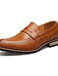Для мужчин обувь Микроволокно Весна Лето Осень Зима Оригинальная обувь Формальная обувь Мокасины и Свитер Комбинация материалов Назначение