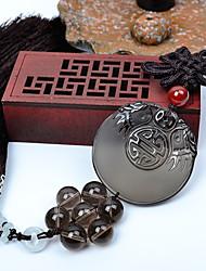 Pendentifs automobiles diy pendentif voiture de paix et de bénédiction dragon de style chinois obsidienne&Ornements cristal de jade