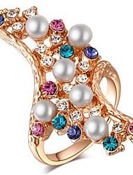 Settings Ring Band Ring  Luxury Women's Euramerican Fashion  Irregular Style Business  Graduation Anniversary Birthday  Movie Gift Jewelry
