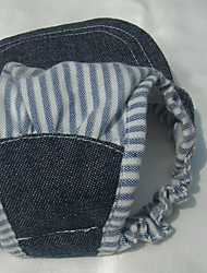 Собака Банданы и шляпы Одежда для собак На каждый день Полоски Темно-синий