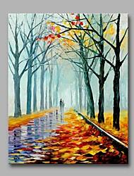 Pintados à mão Romântico Vertical,Artistíco Amantes Especial Moderno/Contemporâneo Ano Novo 1 Painel Tela Pintura a Óleo For Decoração