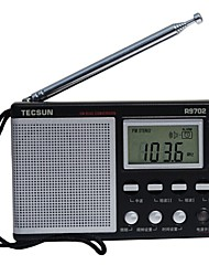 R-9702 Radio portable Radio FM Enceinte interne Fonction réveille Noir
