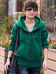 Women's Going out Hoodie Solid Hooded Stretchy Polyester Long Sleeve Spring Fall