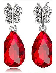 Dámské Visací náušnice imitace Sapphire imitace Diamond Módní Slitina Kapka Šperky Pro Párty Narozeniny Denní