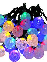 hkv® солнечные лампы 6m 30led rgb водонепроницаемая фея открытый сад рождественская вечеринка украшение строка свет