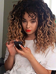 Capless Human Hair Curly Wig 1b/30# Black Ombre to Brown Wigs for Black Women Wig