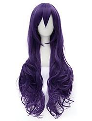 Parrucca Faux Locs parrucca Cosplay sintetico Parrucche Lungo Viola Capelli