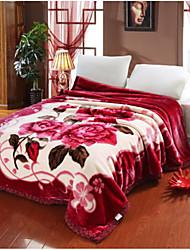 Pluche Fleur Coton couvertures