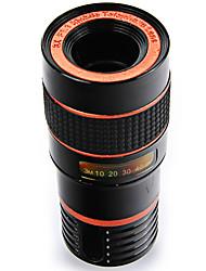 Lentes de telefone móvel lq-007 do lieqi 8 vezes telefoto lente externa universal