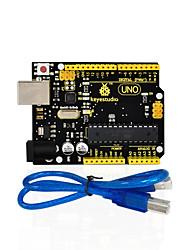 1pcs keystudio one r3 board (chip original) 1pcs usb compatível com cabo 100% compatível para arduino uno r3