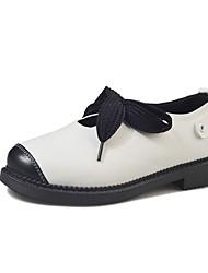 Women's Sandals Basic Pump Comfort PU Spring Summer Office & Career Party & Evening Dress Basic Pump Comfort Buckle Chunky Heel Gray Black