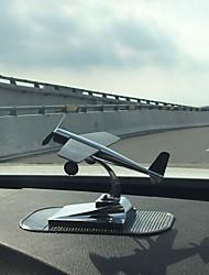 DIY Automotive Ornaments Solar Energy Aircraft Car Pendant & Ornaments Metal
