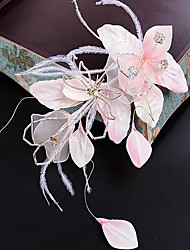 Tulle Fabric Silk Net Headpiece-Wedding Special Occasion Party/ Evening Flowers Hair Clip 3 Piece