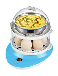 Eierkocher Doppel-Eierstöpsel Neuheiten für die Küche 220V Gesundheit Multifunktion Niedlich Geräuscharm Licht-Spannungsanzeige 2 in 1