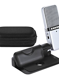 Samson GO Mic Mini Portable Recording Condenser Microphone Clip-on Design with USB Cable Carrying Case for Computer NoteBook Tablet PC