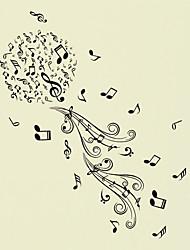 Музыка Романтика Мода Наклейки Простые наклейки Декоративные наклейки на стены материал Украшение дома Наклейка на стену