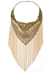 Femme Colliers Déclaration Bijoux Alliage Bijoux Fantaisie Elegant Métallique Gland Mode Bohême Personnalisé Fait à la main Bijoux Pour