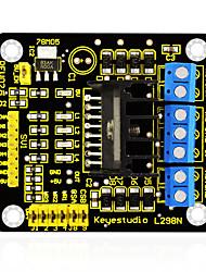 Keyestudio new l298n shield dual h bridge dc шаговый модуль контроллера контроллера для интеллектуального автомобильного робота arduino