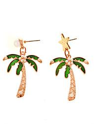 Women's Drop Earrings Mismatch Earrings Obsidian Sexy Handmade Fashion Personalized Bling Bling Imitation Pearl Alloy Fruit Jewelry For