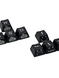Poupée de foudre oem hauteur double clavier imprimé gravé top imprimé et clavier imprimé latéral pour clavier mécanique 8 touches