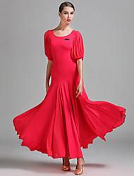 Danse de Salon Robes Femme Spectacle Tulle Soie Glacée 1 Pièce La moitié des manches Taille moyenne Robes