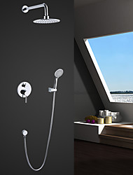Wall Mounted Rain Shower Handshower Included Bathroom  Shower Faucet Set Contemporary Design New