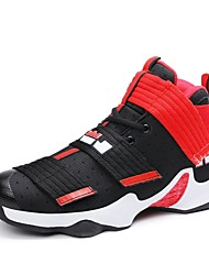 Basketball Shoes Men's Athletic Shoes Comfort Fabric Summer Fall Athletic Outdoor Magic Tape Flat Heel