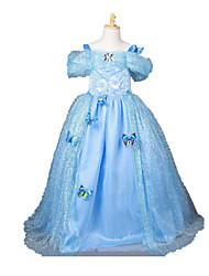 Une Pièce/Robes Princesse Cinderella Conte de Fée Fête / Célébration Déguisement d'Halloween Rétro Other Robes Halloween Carnaval Fille
