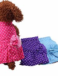 Cachorro Vestidos Roupas para Cães Casual Pontos Roxo Vermelho Azul Claro