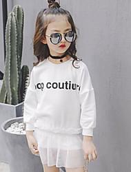 Girl's Print Dress,Cotton Polyester Summer Long Sleeve