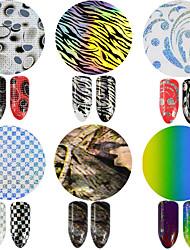 1pcs 100*4cm Nail Art Glitter Transfer Foils Sticker Colorful Design Nail DIY Foils Glue Adhesive DIY Manicure Styling Tools STZXK84-89