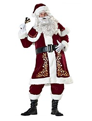 One-Piece/Dress Outfits Santa Suits Festival/Holiday Halloween Costumes Vintage Dresses Hats Christmas Female Adults'Tactel Elastane