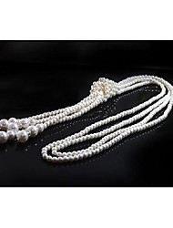 Women's Statement Necklaces Imitation Pearl Tassel Jewelry For Wedding Party Halloween Birthday Graduation Gift Daily