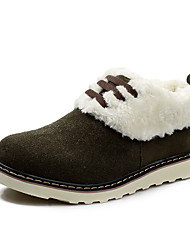 Men's Boots Snow Boots Winter Suede Casual Outdoor Flat Heel Khaki Brown Black Flat
