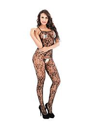 Жен. Ультра-секси Ночное белье Сексуальные платья Цветочный Нейлон