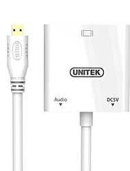 Unitek HDMI Micro Adattatore, HDMI Micro to VGA Adattatore Maschio/femmina 0,15 m (0.5Ft)