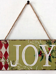 European and American wooden Christmas JOY is listed for Christmas Eve wooden hanging board
