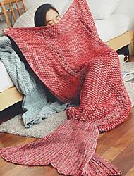 Tricoté Bande Laine couvertures