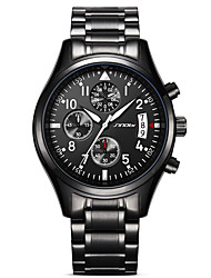 SINOBI Men's Men Sport Watch Military Watch Dress Watch Fashion Watch Wrist watch Simulated Diamond steel Watch Japanese QuartzCalendar Water